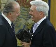 Rey Juan Carlos y Mario Vargas Llosa