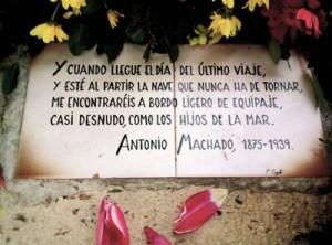 Machado muere solitario en Francia