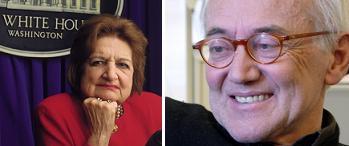 Helen Thomas y Ugo Riccarelli
