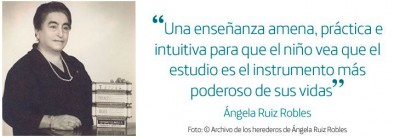 La esperanza de Ángela Ruiz Robles en la educación