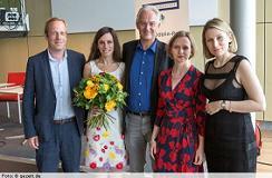 María Cecilia Barbetta en la premiación (foto: gezett.de)