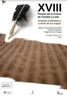 Premio de la Crítica de Castilla y León 2020