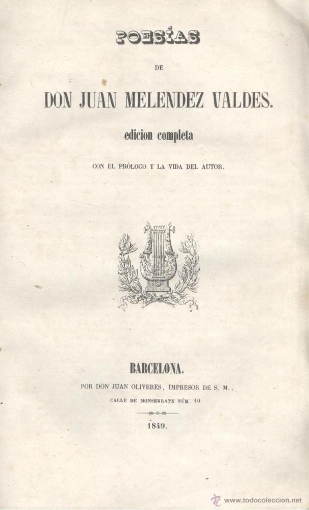 Juan Meléndez Valdés - Poemas de Juan Meléndez Valdés